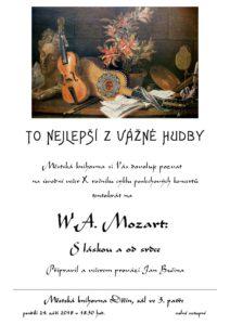 Večer reprodukované vážné hudby: W. A. Mozart