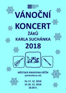 Vánoční koncert žáků Karla Suchánka