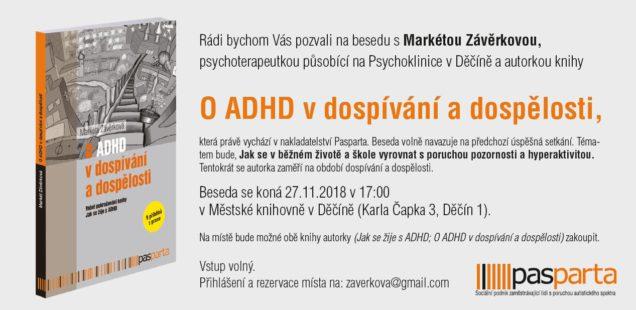 Přednáška o ADHD 27. listopadu