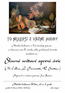 Večer vážné hudby: Slavné světové operní árie