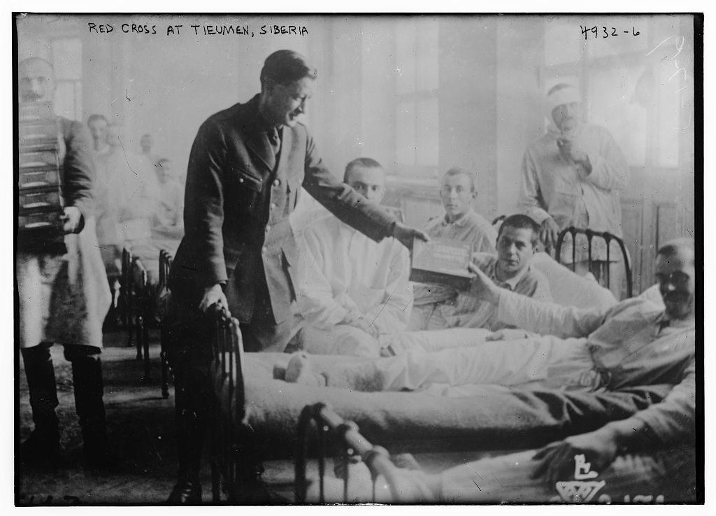 Stará fotografie vojenské nemocnice